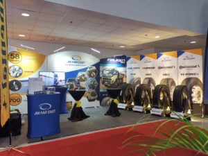 Booth set-up of JM Far East, Inc.
